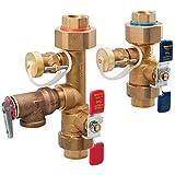 Watts - LFTV15PRC 3/4 3/4 LFTWH-UT-HC-RV Tankless Water Heater Valve Set with Relief Valve, 3/4'