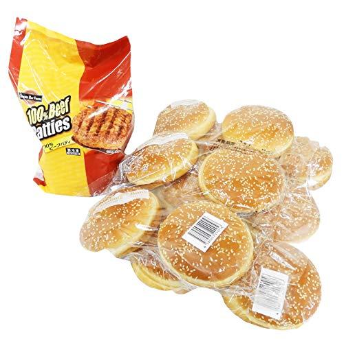 ハンバーガー バンズ&パティ(ビーフ)セット (オレンジベイフーズ100%ビーフパティ&ビックバーガー バ...