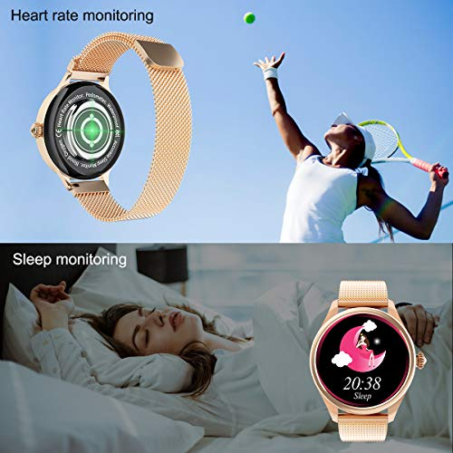 Smart Watch for Women, Yohuton Full Touch IPS Color Screen Fitness Tracker Activity Tracker IP67 Waterproof Heart Rate Monitor Fitness Watch with Physiological and Safe Period Tracker
