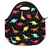 Neoprene Lunch Bag Insulated Lunch Box Tote for Kids Teens Boys Teenage Girls Toddlers Women Men Adult (Dinosaur)