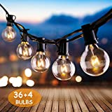 IREGRO Guirlande Lumineuse G40 Lampes Cordes 40 Ampoule 12.8 M Etanche...