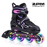 2PM SPORTS Vinal Taille réglable Roller Enfant Fille lumière LED Roues,...