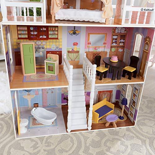 Image 2 - Kidkraft - 65023 - Maison de Poupées en Bois Savannah Incluant Accessoires et Mobilier, 4 Étages de Jeu pour Poupées 30 cm