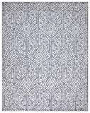 Diagona Geometric Cubes Design 8X10 Area Rug, 92' W x 116' L, Gray/Ivory