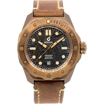 BOLDR Odyssey Automatic Dive Wrist Watch   Bronze Meteoblack