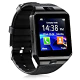 321OU Smart Watch Bluetooth Smart Watch Fitness Tracker Touchscreen iOS Android Compatible with Camera Pedometer Sleep Monitor Call/Message Music for Men Women Kids (Black)