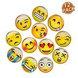 Lesfit Aimant Emoji, 12 Pièce 3D Verre Smiley Aimant Réfrigérateur à...