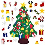 Fayoo DIY Felt Christmas Tree with 30pcs Ornaments, Xmas Gifts for Kids New Year Handmade Christmas Door Wall Hanging Decorations