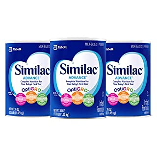 Similac is the first infant formula brand with no artificial growth hormone (no significant difference has been shown between milk derived from rbST-treated and non-rbST-treated cows) Similac Advance Infant Formula is a nutritionally complete, milk-b...