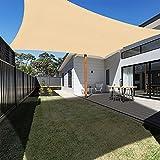 Ankuka Waterproof Sun Shade Sails Canopy Rectangle UV Block Pergola Shade Cover for Outdoor Patio and Garden, Yard Activities (8'X10', Yellow)