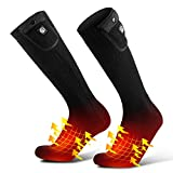 Savior Upgraded Heated Socks for Men Women, Heating Socks for Foot and Instep,Riding/Skiing/Motorcycling/Thermal Foot Warmer