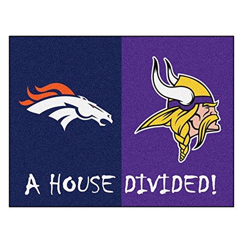 NFL House Divided - Broncos/Vikings Rug, 34