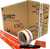 25 Strong Cardboard Storage Packing Moving House Boxes Double Walled with Fragile Tape and Black Marker Pen and 10 Fragile Stickers 47cm x 31.5cm x 30cm 44 Litres