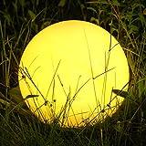 Albrillo RGB Lampe Solaire de Jardin - Boule LED Solaire avec...