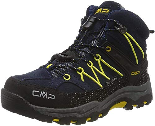 CMP Kids Rigel Mid Shoe Wp Trekking-& Wanderstiefel, Blau (B.Blue-Zafferano...