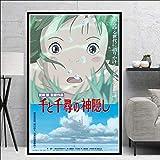 Dibujos Animados de Anime Cuadro para Pintar por números de Adultos, Pintar por números, Pinturas al óleo por números40x60cm sin Marco