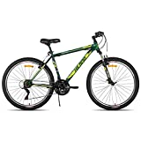 Hiland 26 Inch Mountain Bike 21Speed MTB Bicycle for Men with 15 Inch Suspension Fork Urban Commuter City Bicycle Green