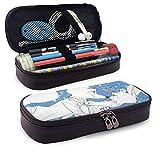 Zoot-O-Pia Roll Folle - Estuche de gran capacidad para lápices (tamaño grande), bolsa de maquillaje para adolescentes