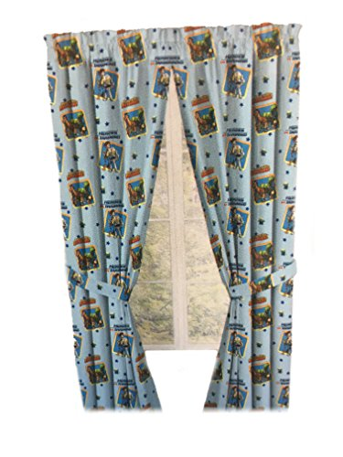Toy Story Drapes Children Window Panel Curtains with Tie Backs (Sky Blue)