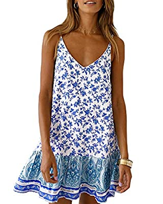 ❀ Material: Cotton & Polyester. Made of soft, lightweight and breathable fabric. ❀ Suitable for a variety of occasions: casual, work, shopping, street, office, outdoor, daily wear etc. ❀ This dress is a relaxed fit with adjustable straps at the back,...