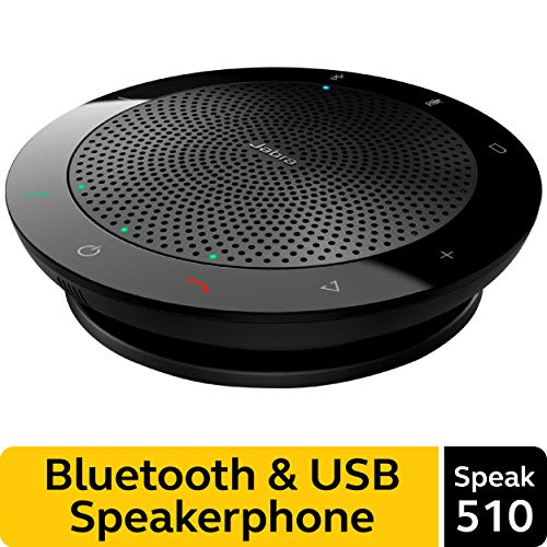 Jabra Speak 510 Wireless Bluetooth Speaker for Softphone and Mobile Phone  Easy Setup, Portable Speaker for Holding Meetings Anywhere with Outstanding Sound Quality