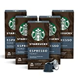 Starbucks by Nespresso, Espresso Dark Roast (50-count single serve capsules, compatible with Nespresso Original Line System), 10 Count (Pack of 5)