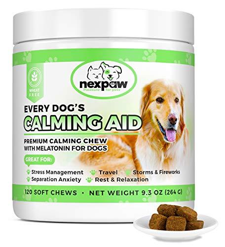 NEXPAW Calming Treats for Dogs with Melatonin -...