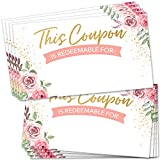 """100 Coupon Cards - Blank Fillable Gift Certificates 2"""" x 3.5""""..."""