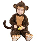 Spooktacular Creations Baby Monkey Costume Deluxe (Toddler (3T)) Brown