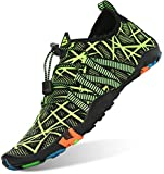 Unisex Zapatos de Agua Antideslizante Secado Rápido Natación Playa Surf Escarpines para Hombre Mujer Verde 43