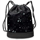 PmseK Mochila con Cordón,Bolsas de Gimnasia, The Night Sky Multifunctional Bundle Backpack Shoulder Bag For Men and Women