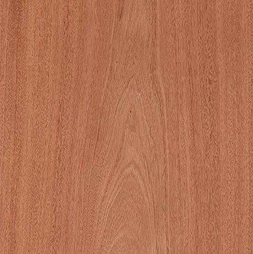 """Edge Supply Mahogany Wood Veneer Sheet Flat Cut, 24"""" x 48"""", 10 mil..."""