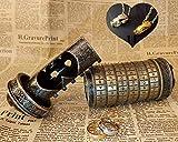 Da Vinci Code Mini Cryptex Valentine's Day Money Puzzle Box Lock Puzzle Creative Romantic Birthday Gifts for Him Bronze