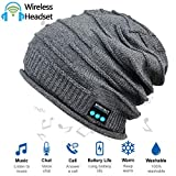Upgraded Wireless Bluetooth Beanie Hat with Headphones V5.0, Unique Christmas Tech Gifts for Teen...