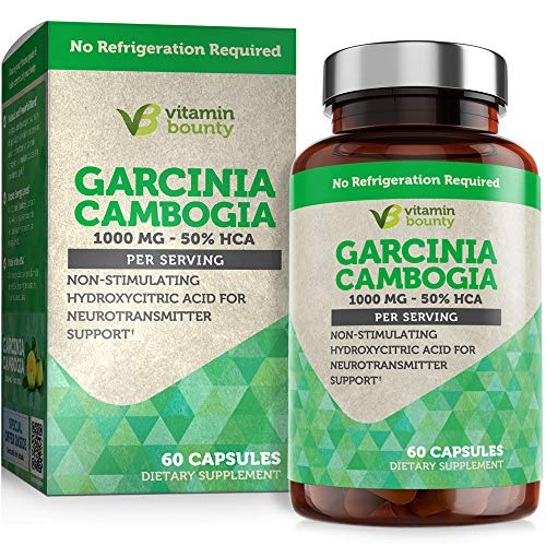 Garcinia Cambogia - by Vitamin Bounty - 100% Pure Extract - 60 Count - 1000mg 1