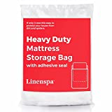 Linenspa Heavy Mattress Storage Bag with Double Adhesive Closure, Queen, Heaviest-Duty