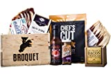 Bacon Gift Pack (Bacon Lover Sampler Set) Bacon Six Ways - Gourmet Food Gift - Great Gift For Men - Comes in a Wooden Gift Crate