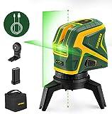 POPOMAN Niveau laser vert, Traceurs de ligne laser avec 2 points de...