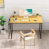 STAR WORK - Computer Desk Study Table for Small Spaces Home Office Rustic Student Writing Desk with Storage Bag (: 30'(H) X40(W) X19(D) in (Big))