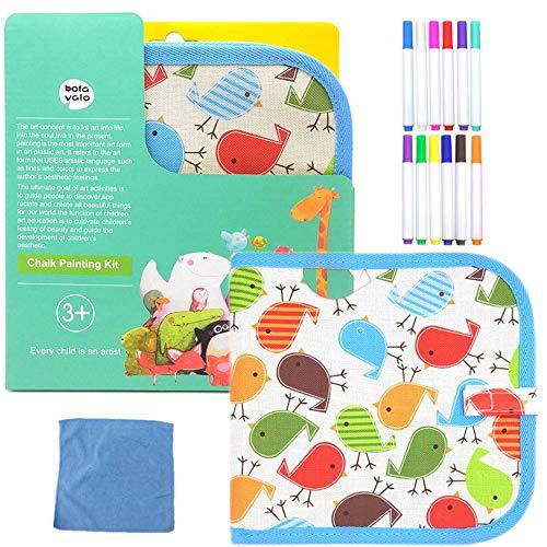 Portatile da Disegno per Bambini, Doodle Disegno Giocattoli per Bambini con 12 Colorati Penna...