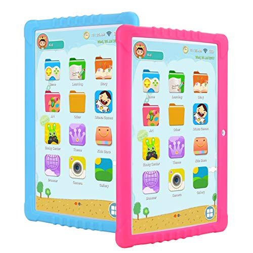 3G Tablet Bambini,SANNUO 10 Pollici Kids Tablet con WiFi (Android 9.0, Quad-Core, 2+ 16 GB, Doble...