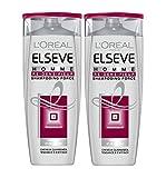 L'Oréal Paris Elsève Shampooing Homme Re-densifieur Cheveux Fins - 250 ml - Lot de...