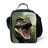Bolsa de almuerzo con diseño de dinosaurio POLERO con aislamiento, bolsa de almuerzo resistente al agua para mujeres/hombres y niños T-REX