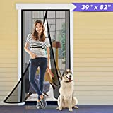 Titan Mall Magnetic Screen Door 39'W x 82'H with Super Tight Self...