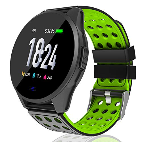 Kemier Fitness Tracker, Blood Pressure Monitor and Heart Rate Monitor Watch, IP67 Waterproof Multiple Function Smart Watch Fitness Tracker for Women and Men, Robust Activity Tracker (Green) …