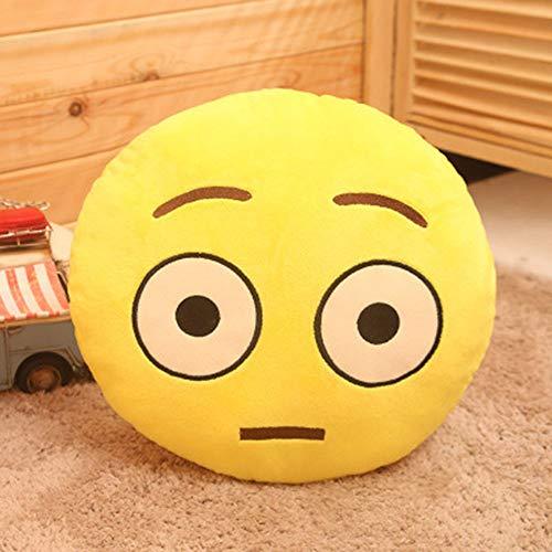 TianranRT 32cm Suave QQ Emoji Emoticon Sonriente Relleno muñeca de Juguete Peluche Almohada Cover
