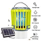 Anordsem 3 en 1 Lampe Anti Moustiques Lampe Camping Lanterne Torche IP67 Etanche avec USB et Energie...