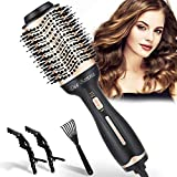 Dee Banna Brosse sèche-cheveux, brosse soufflante et volume 4 en 1, brosse...