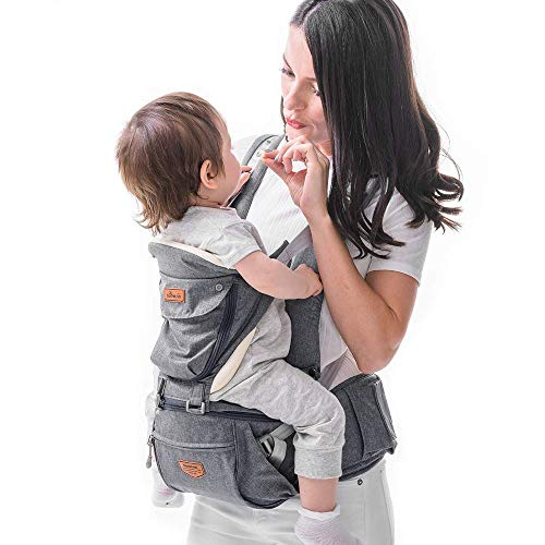 Porte-bébé Ergonomique avec Siège de Hanche- SUNVENO Porte-bébé...