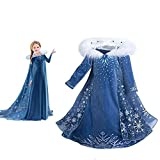Snow Princess Costume GirlsHalloween CosplayFancy Dress QueenChristmasBirthday Party Dress 3-8T